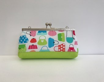 Kit cotton bags colors / / multipurpose handmade / / pen case / / make-up pouch