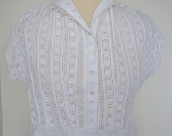 Vintage Cropped Blouse Perfect For Victorian Steampunk Costume Size UK 14, US 10