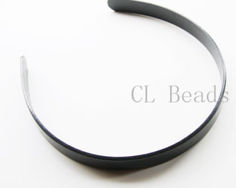 4 Pieces of Black Plastic Hair Band Base - 15mm Wide (N-252)