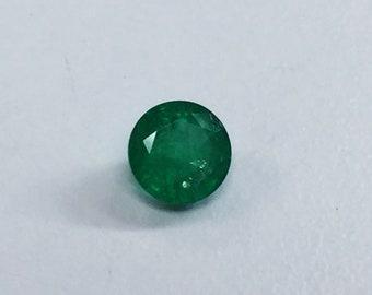 Zambia Emerald Round 6mm