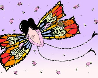 Psychedelic Butterfly 8 x 11 Art Print