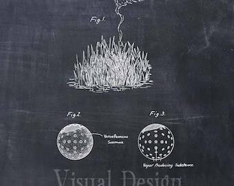Lost Golf Ball Indicator Patent Print - Patent Art Print - Patent Poster - Golf Joke