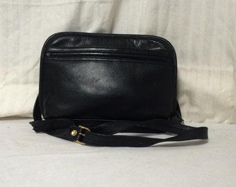 Toni, black leather purse, shoulder bag, organizer bag,purse,bag