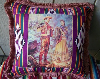 Mexican Southwest Serape Pillow Couple
