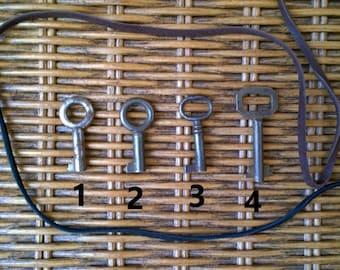 Small Skeleton Key Necklace