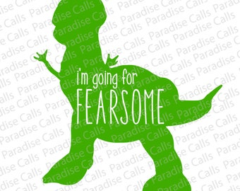 Disney Toy Story Dinosaur Rex Fearsome Digital Download Cut File for Silhouette or Cricut, SVG, DXF, EPS