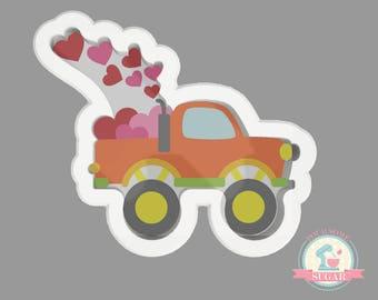 Valentine's Truck Cookie Cutter