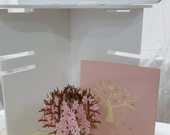 Beautiful Pink Blossom Tree 3D popup greeting card