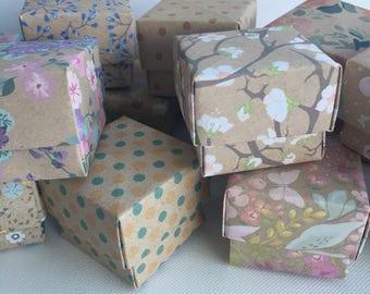 20 mini origami favour boxes floral tea party