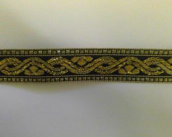 Gold and black ribbon trim