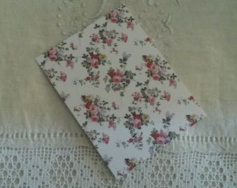 Map postcard shabby chic and romantic for scrapbooking / old pink decor / embellishment