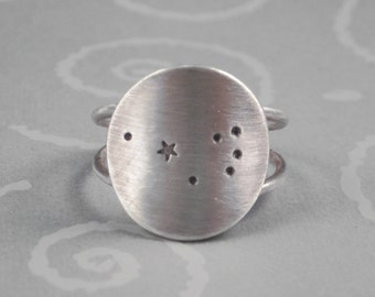 Pleiades Constellation Ring by donnaodesigns
