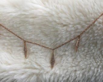Diamond Shaped Charm Necklace
