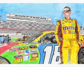 Kyle Busch-Waiting for his ride