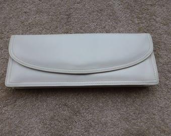 Vintage clutch purse - 30cm off white