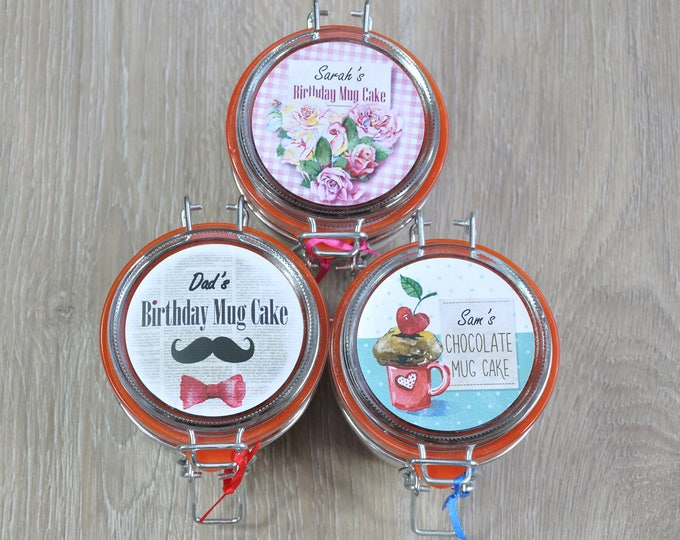 3 Jar Variety Pack, Cakes to send by post, instant cake, small birthday treat, mans birthday, ladys birthday, cake lovers gift, mug cake mix