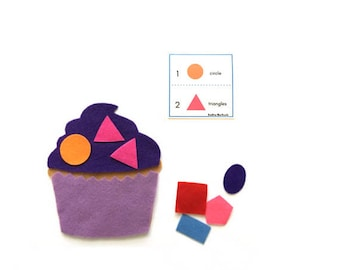 Montessori Preschool Math Activities, Fun Shapes Counting Game, Preschool Busy Bag, Math Learning Toys, Educational Toy for Preschool