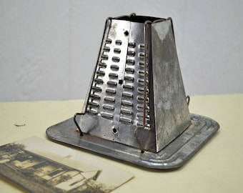 Old Stove Top Toaster - primitive and rustic tin