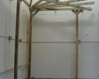 Corner Wooden Pergola