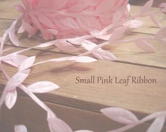 Ribbon. Trim. Pink leaf  Ribbon  Wedding Favors  Bridal Shower Gift packaging 5 yards Pink Trim