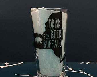 "New York State ""Drink Beer from Buffalo"" Pint Glass"