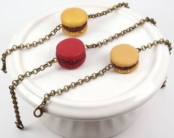 Bracelet french macaron in polymer clay (fimo) - Two colors available