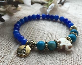 Buddha Bracelet - Yoga Bracelet - Buddha  - Meditation Bracelet - Gemstone Bracelet - Beaded Bracelet - Mala Bracelet - Yoga Jewelry - Boho