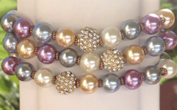 The Advocate Bracelet - candy spring colored beads