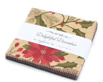 MODA Delightful December Charm Pack by Sandy Gervais