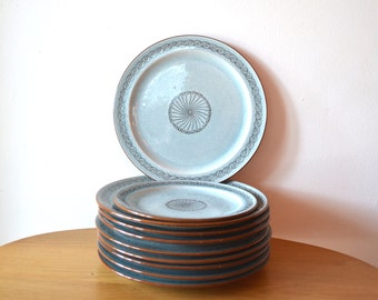 Mid Century Art Pottery Dish Set attributed to Bauhaus Potter Werner Burri