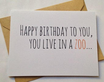 Funny Birthday Card / Humor Birthday Card / Snarky Birthday Card / Fun Birthday Card / Birthday Greeting Card