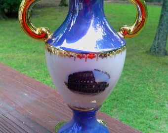 Vintage Souvenir Vase from Rome, Italy  - The Basillica and the Colosseo