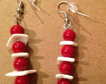 Shell and beads ear rings