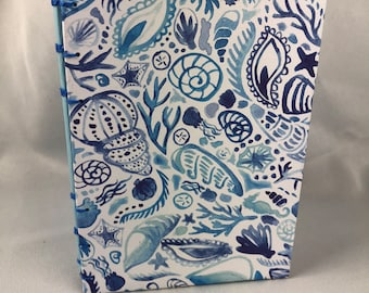 Blue Seashells B6 Journal