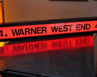 Illuminated Vintage Warner West End Cinema Sign - Screen 4