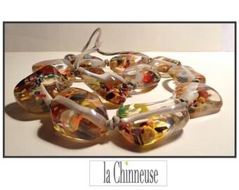 CARLOS SOBRAL resin NECKLACE / chunky necklace Carlos Sobral /Resin necklace Carlos Sobral resin / Collectible / True Vintage.