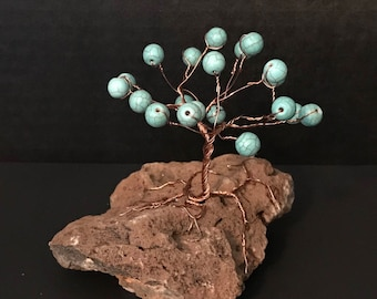 Turquoise on Copper Gem Tree