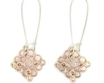 Birdhouse Jewelry- Pink Gold Bubble Earrings