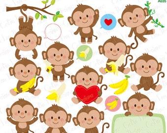 Monkey Clipart, Cute Monkey Clipart