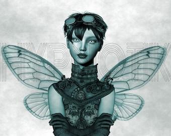 Steampunk Digital Print- Zylphia