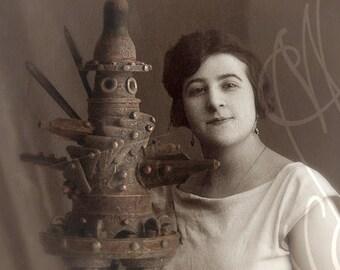"Steampunk Frame with a strange photography by martinefa -  ""Bada"""