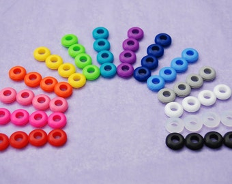 1000 Colored Grommets for Use With Reusable Straws In DIY Mason Jar Cups or Tumblers, Hard to Find Food Grade Silcone Grommets in 15 Colors