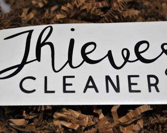 Thieves Cleaner Decal - Young Living Decal - SWAG - Thieves Bottle Label  - Young Living Thieves - Free Shipping - Cleaner -