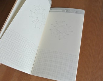 White Standard Size Traveler's Notebook Insert-Grid weekly/Dots/line weekly/time planer