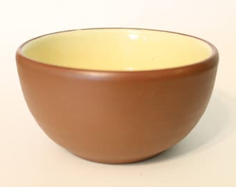 Vintage Pigeon Forge Pottery Tennessee Brown and Yellow Cereal Bowl