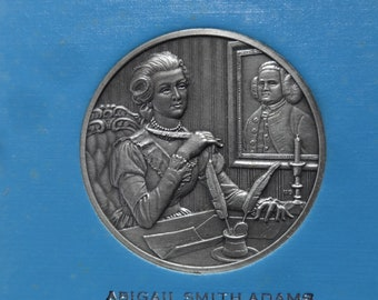DAR The Great Women of the American Revolution-Adams,Arnett,Barker-- Fine Pewter Medals-Franklin Mint-1974-Mother's Day