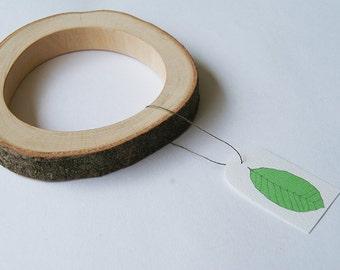 SALE Branch Bracelet, Prunus wood 68 mm, 2.67 inch