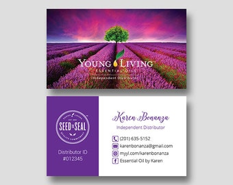 Yl business card etsy personalized young living business cards yl business cards young living independent distributor essential colourmoves