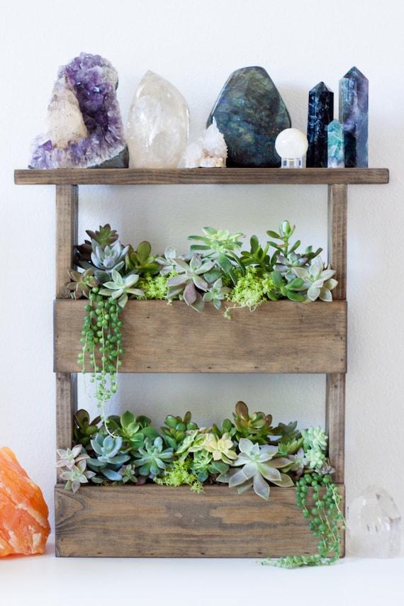 vertical wall planter box pallet style  u0026 crystal display shelf