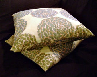Pair of Pillow Covers 20 x 20 Pom Pom Sage by Lilikins Baby + Home